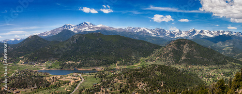 Fotobehang Natuur Park Panoramic view of Rocky mountains, Colorado, USA