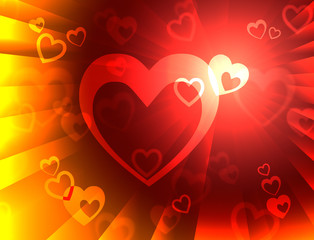 Hearts Background Means Valentines Wallpaper Or Romanticism.