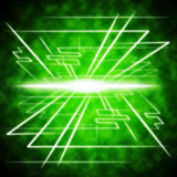 Green Brightness Background Shows Radiance And Lines. poster