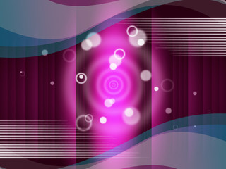 Pink Circles Background Means Round And Ripples.