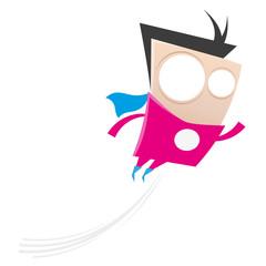 superheld fliegen mann