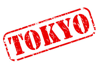 TOKYO red stamp text