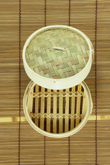 dim-sum basket on mat