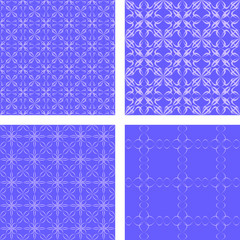 Blue seamless pattern wallpaper set