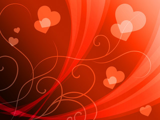 Elegant Hearts Background Shows Delicate Romantic Wallpaper.