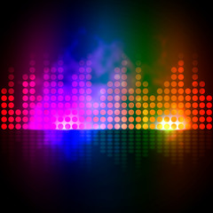 Music Equalizer Background Shows Pulse Track Or Sound Frequency.
