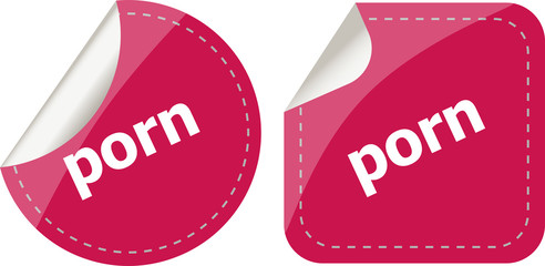 porn stickers set on white, icon button isolated on white