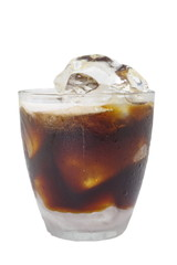 Cold coffee drink with ice
