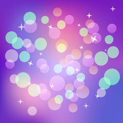 Shining magical dark violet bokeh background