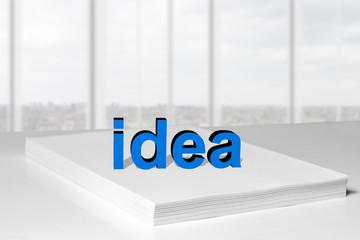 idea paper stack