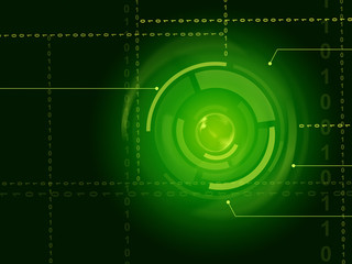 Electronic Sensor Background Shows Laser Circuit Or Energy Beam.