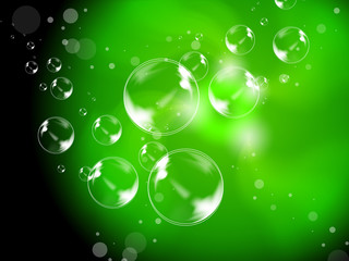 Abstract Bubbles Background Shows Beautiful Creative Spheres.