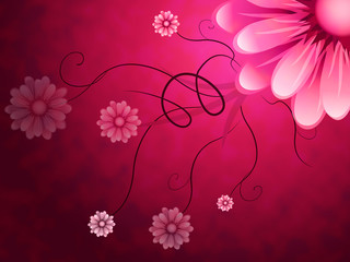Flowers Background Shows Garden Growing And Nature.