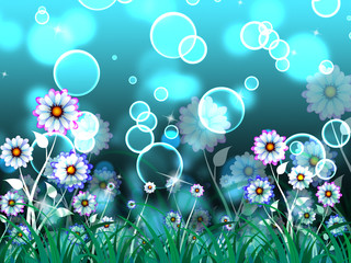 Flowers Background Means Growth And Beautiful Garden.