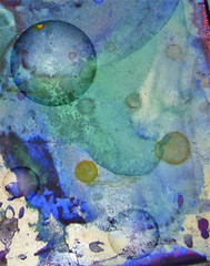 abstract watercolor background  with circles
