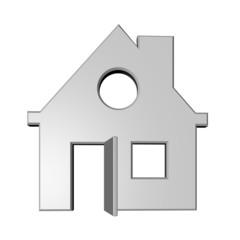 2d huis met open deur