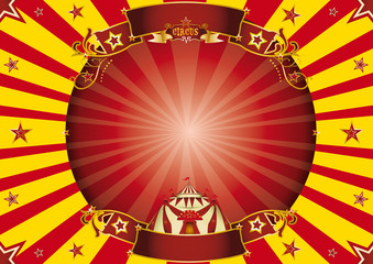 Circus red and yellow horizontal background