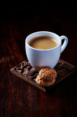 Cup of Espresso with Two Biscotti