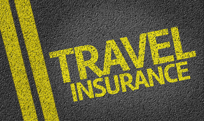 Travel Insurance written on the road