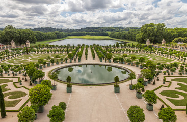Nice Garden of Versailles near Paris in France