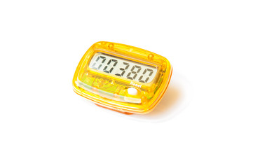 Pedometer Isolated ,Exercise Equipment that Counts Steps