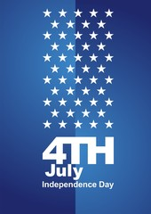4th July blue background