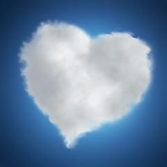 heart-shaped cloud