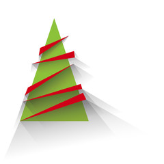 Abstract christmas tree, flat design