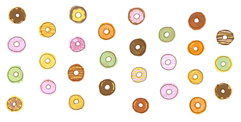 donut icon illustration, food