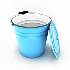 Bucket with cover removed