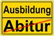 canvas print picture - Abitur - Ausbildung