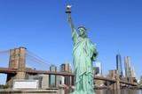 Brooklyn Bridge and The Statue of Liberty - 66914683