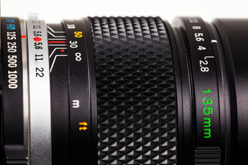 Telephoto lens close-up