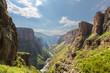 Leinwanddruck Bild - Maletsunyane River valley