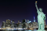 Manhattan Skyline and The Statue of Liberty - 66915009