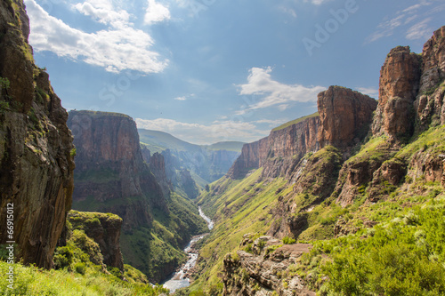Canvas Overige Maletsunyane River valley