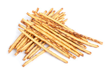 Closeup of a pile of delicious pretzel sticks