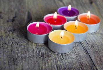 Duftlichter in vewrschiedenen Farben