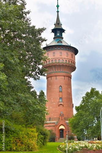 Leinwanddruck Bild Wasserturm Forst (Lausitz)