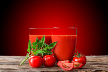 Fresh tomato juice, healthy drinks.