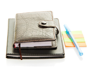 Organizer, notepad, note paper and the handle