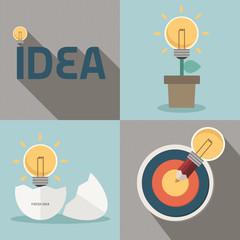 fresh idea and creative light bulb concept