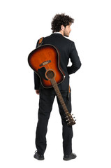 Young Man Carrying Guitar