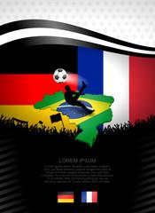 plakat fussball deutschland-frankreich I