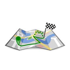 landkart gefaltet mit route II