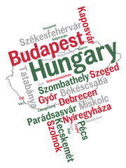 Hungary map and cities