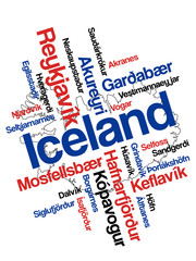 Iceland map and cities