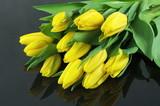 tulipany na czarnym tle - 66917829