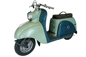 old light green scooter