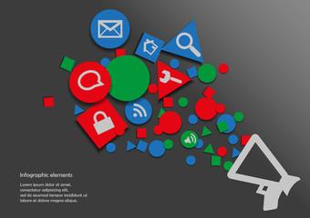 Infographic with symbols